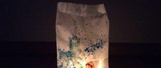 Lichttüten mit Wachsresten