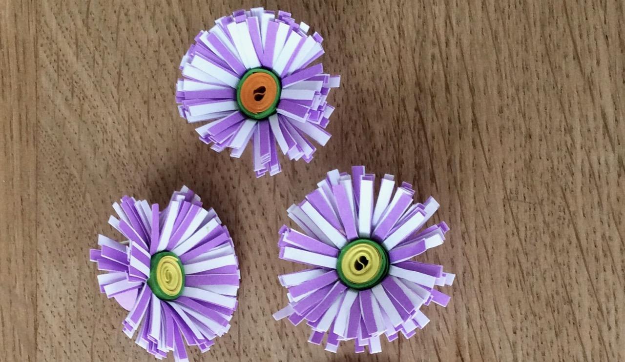 Gänseblümchen aus Papier | kreativ mit kind